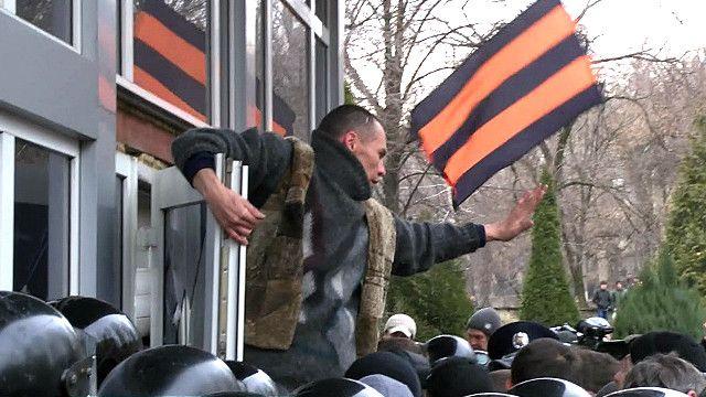 Штурм здания в Донецке