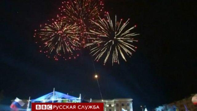 Салют в Крыму в день референдума
