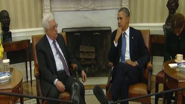 باراك اوباما ومحمود عباس