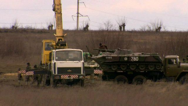 Фортификационные работы в Донецком