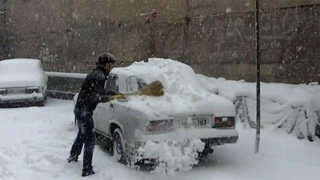 Єреван, снігопад