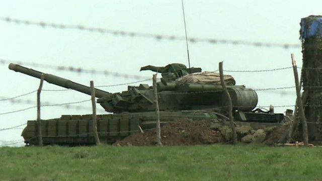 Украинские танки на границе с Россией