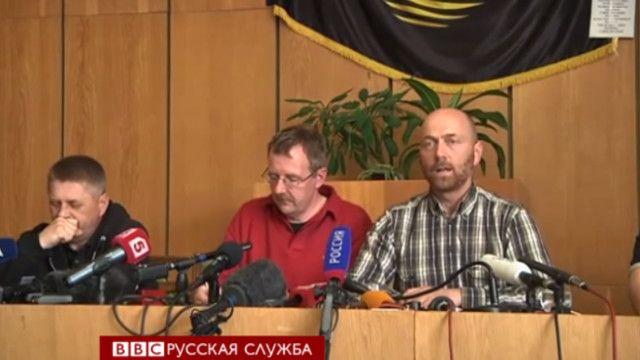 Захваченные в заложники наблюдатели ОБСЕ
