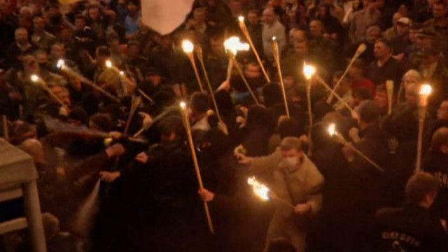столкновение на Майдане