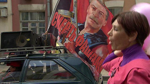 Первомайская демонстрация в Донецке