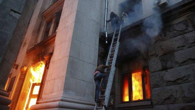 Драматические кадры пожара в Одессе