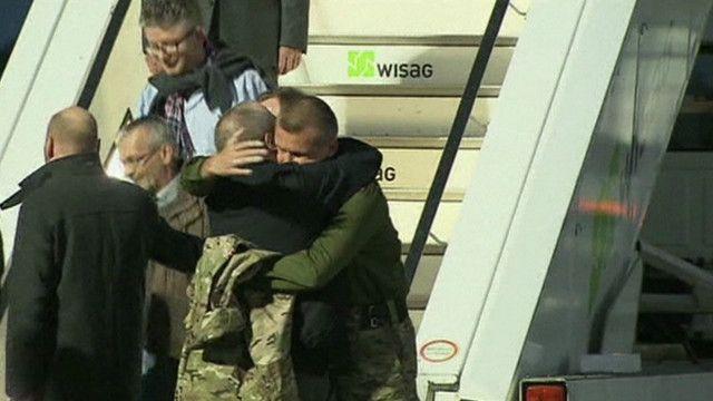 المراقبون المفرج عنهم في أوكرانيا