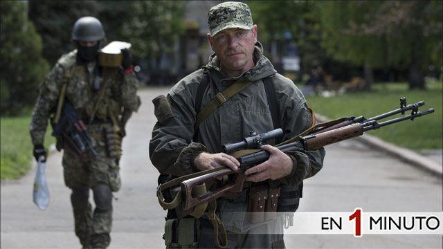 Hombres armados prorrusos