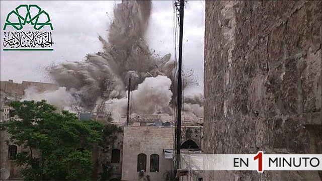 Explosión en la ciudad vieja de Aleppo