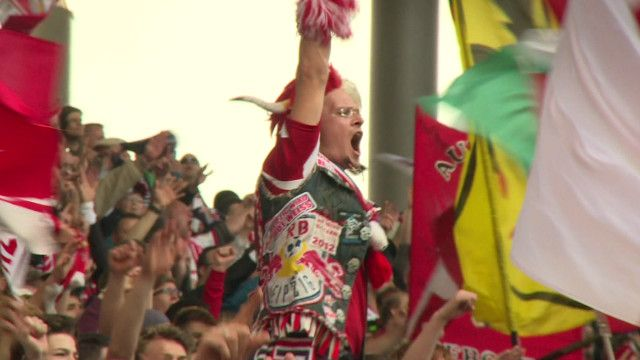 Torcedor do RB Leipzig. Foto: BBC/Albert Steinberger