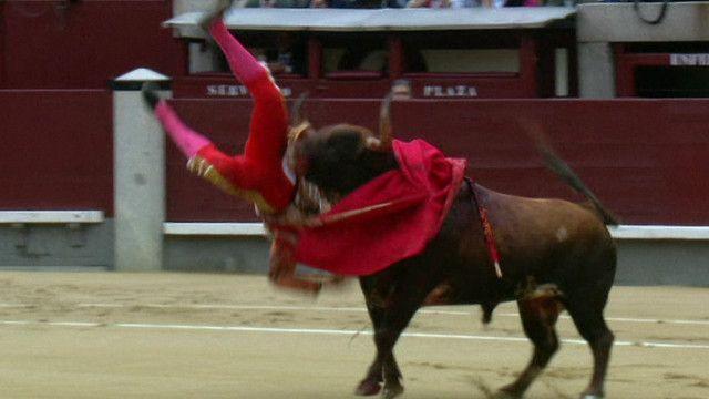 toureiro é ferido na Espanha