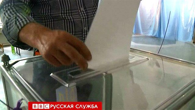 Голосование в Донецкой области