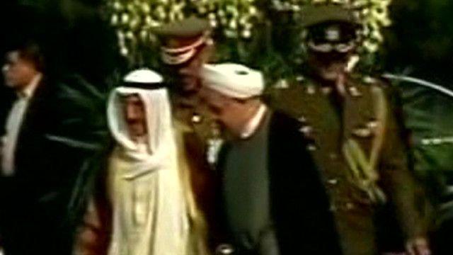 أمير الكويت والرئيس الايراني