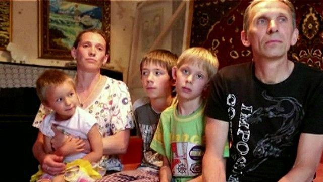 Familia en Sloviansk