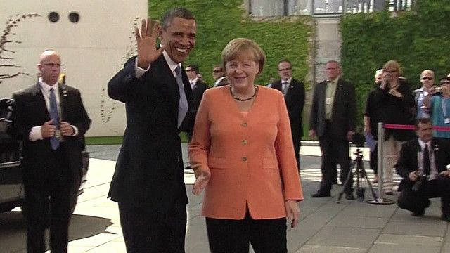 Angela Merkel y Barack Obama.
