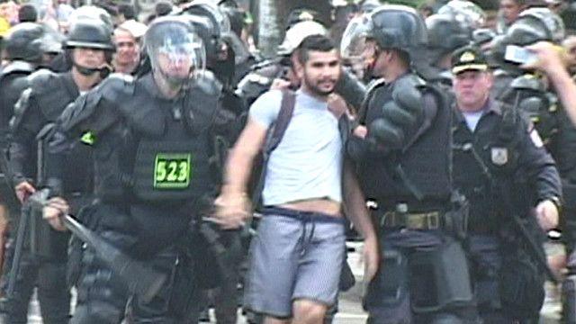 Protesta en Río de Janeiro