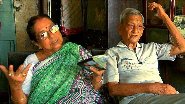 Chaitali Chatterjee y su esposo Pannalal Chatterjee
