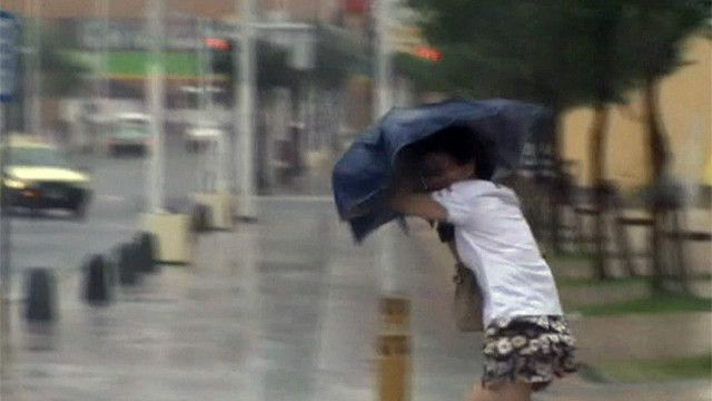 Tifón Neoguri en Okinawa