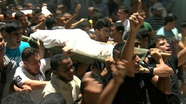 جنازة لاحد ضحايا القصف الاسرائيلي على القطاع