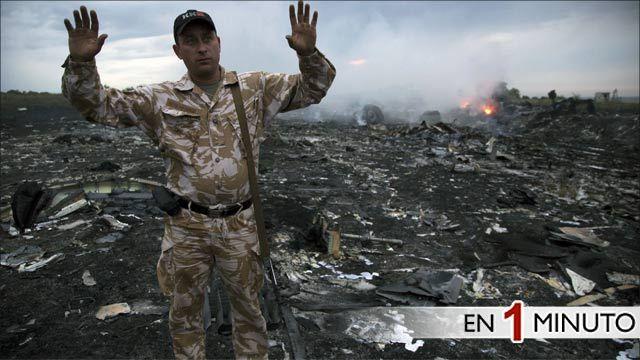 Área del avión caído en Grabovo, Ucrania