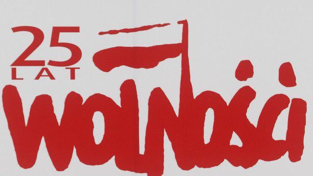 """Плакат """"25 лет свободы"""" в Польше"""