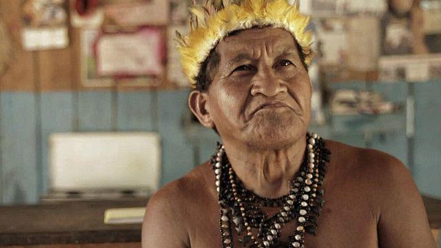 Uno de los jefes de la tribu Munduruku