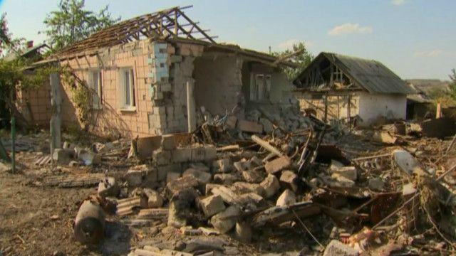 Луганщина, зруйновані села