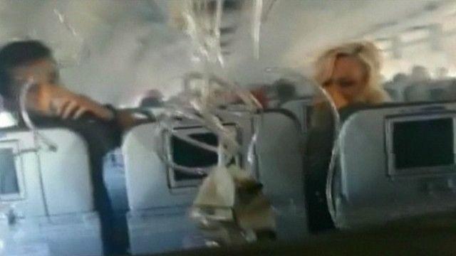 Passageiros se desesperam com fumaça