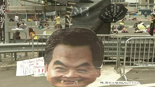 متظاهر في هونغ كونغ