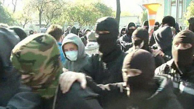 Протестующие у здания Рады