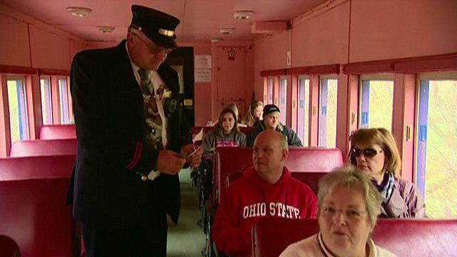 Туристический поезд в Западной Вирджинии