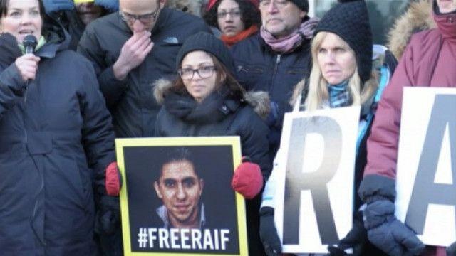 Акция в поддержку Раифа Бадави