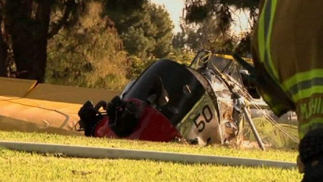 Самолет Харрисона Форда после аварийной посадки