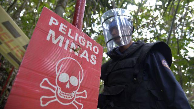 Colombian landmine