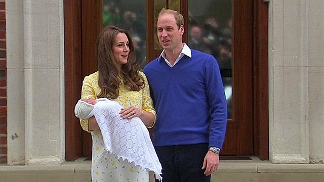 The Duke and Duchess of Cambridge with their baby Princess Charlotte