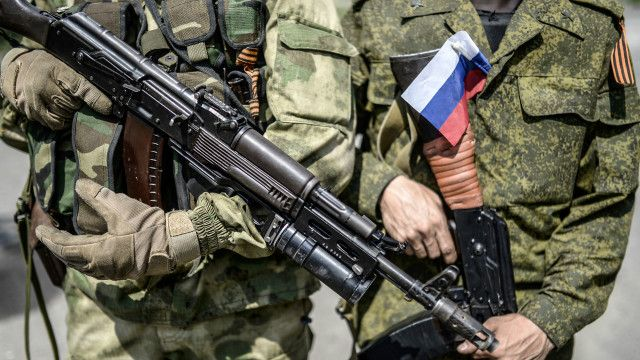 Prorussian fighter, Ukraine