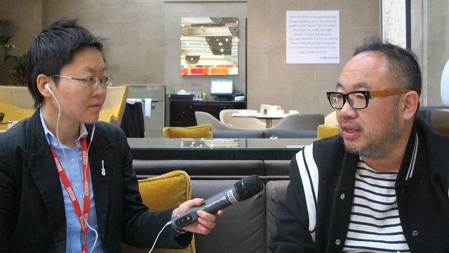 張一白接受BBC英倫網記者子川專訪