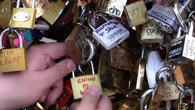 Paris 'love locks' on a bridge
