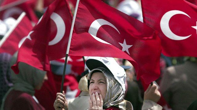 ترکی میں انتخابی مہم کی ایک تصویر