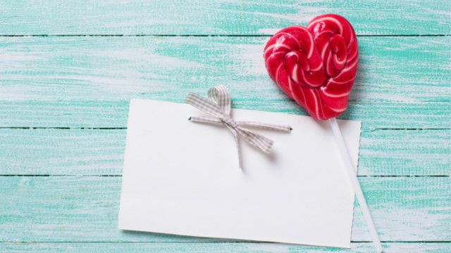 Letter and heart sweet