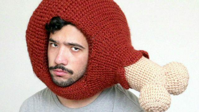 Phil Ferguson com chapéu de coxinha