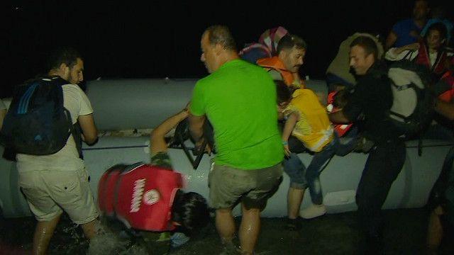 Migrants land on Greek island of Kos