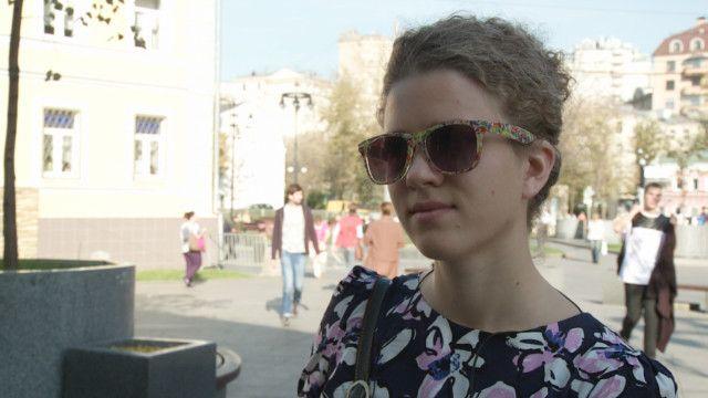 Прохожая в Москве