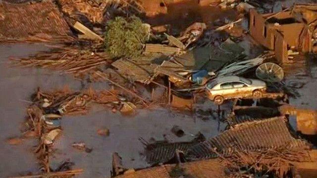 Затопленное водой село