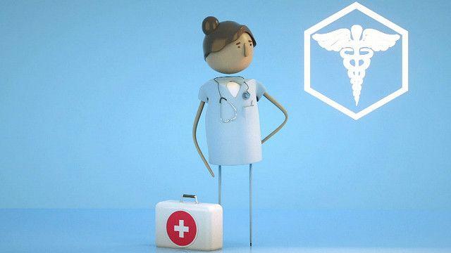Ilustración de una enfermera