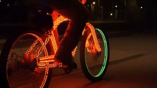 Велосипед со светодиодами