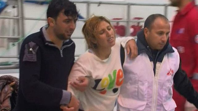 Спасенные у Греции мигранты