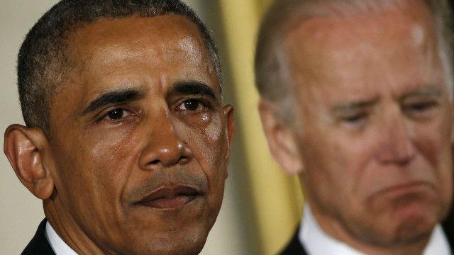 Barack Obama llorando