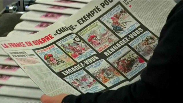 Выпуск Charlie Hebdo через год после расстрела в редакции