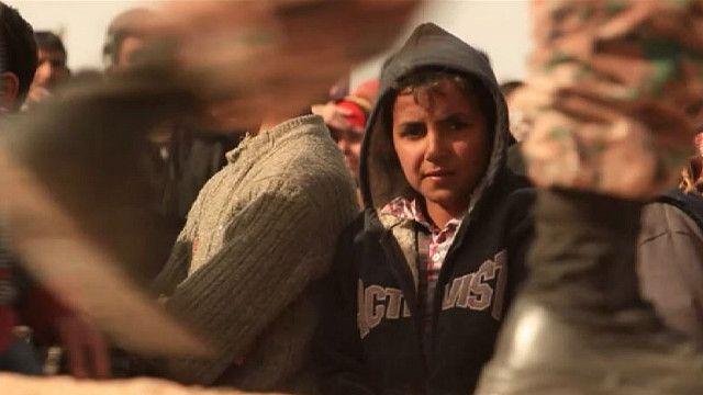 Ребенок из Сирии в лагере в Иордании